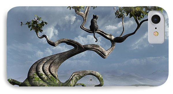 The Sitting Tree IPhone Case by Cynthia Decker