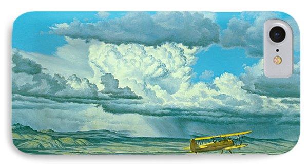The Sky-stearman Biplane Phone Case by Paul Krapf