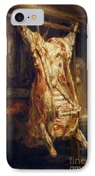 The Slaughtered Ox Phone Case by Rembrandt Harmenszoon van Rijn