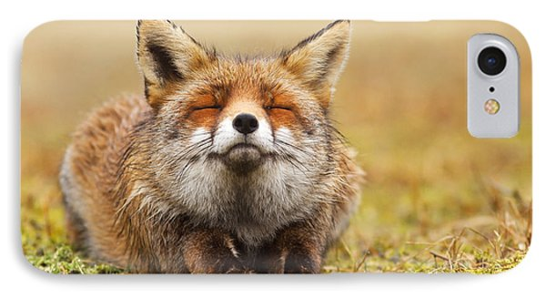 The Smiling Fox IPhone Case by Roeselien Raimond