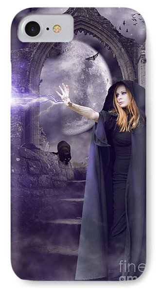 The Spell Is Cast Phone Case by Linda Lees