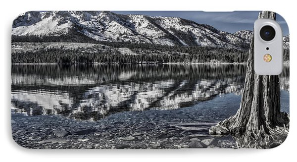 The Stump And The Mountain IPhone Case by Mitch Shindelbower