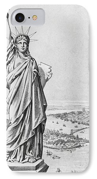 The Statue Of Liberty New York Phone Case by American School