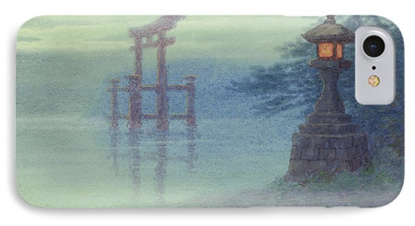 The Stone Lantern Cira 1880 IPhone Case by Aged Pixel
