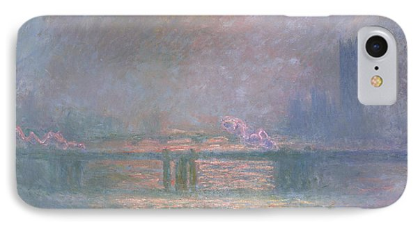 The Thames With Charing Cross Bridge IPhone Case by Claude Monet