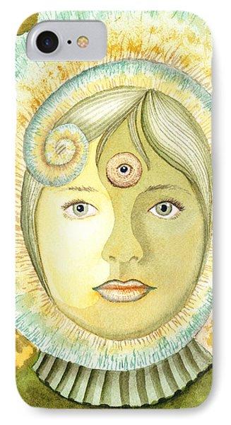 The Third Eye The Wise One Meditation Portrait IPhone Case by Irina Sztukowski