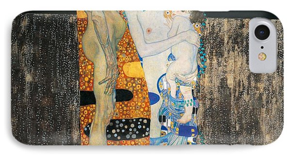 The Three Ages Of Woman IPhone Case by Gustav Klimt