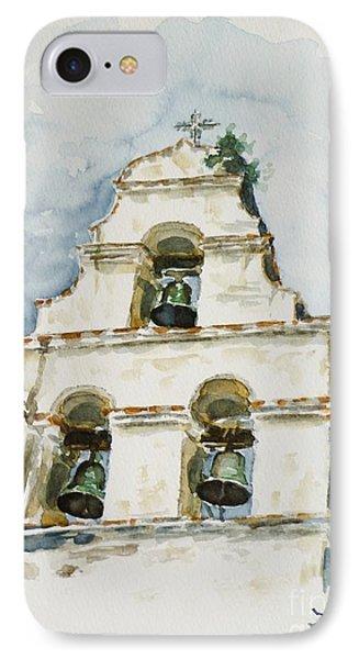 The Three-bell Campanario At Mission San Juan Bautista  Phone Case by Zaira Dzhaubaeva