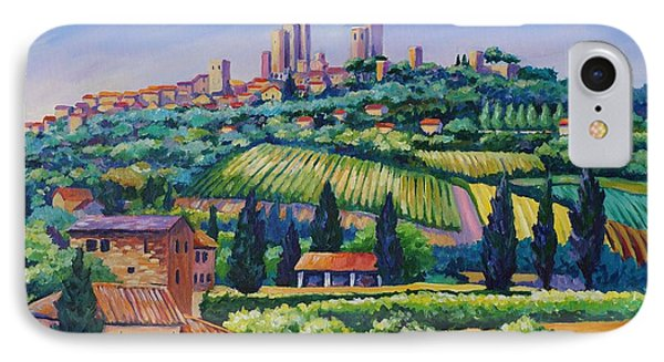 The Towers Of San Gimignano IPhone Case by John Clark