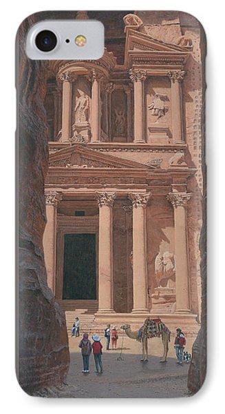The Treasury Petra Jordan IPhone Case by Richard Harpum