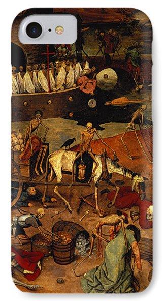 The Triumph Of Death IPhone Case by Pieter the Elder Bruegel