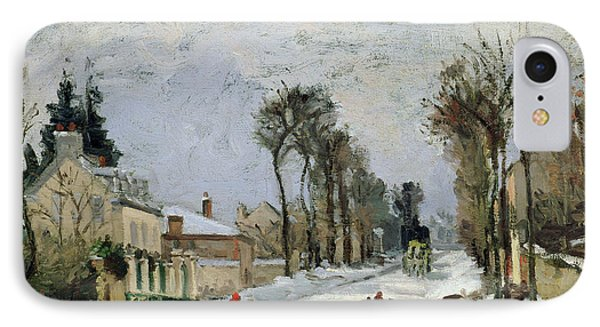 The Versailles Road At Louveciennes IPhone Case by Camille Pissarro