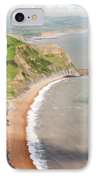 The View West Towards Bridport IPhone Case by Ashley Cooper