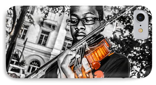 The Violinist  IPhone Case by Steven  Taylor