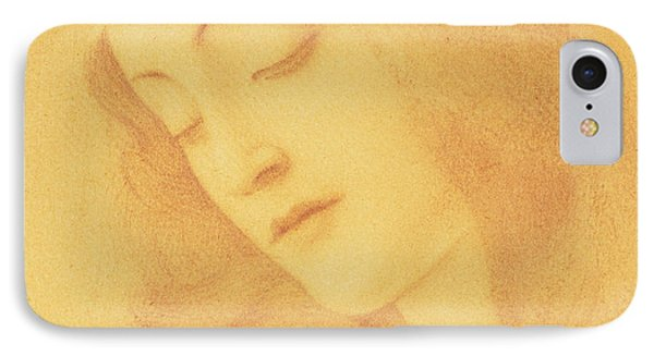 The Virgin After Botticelli IPhone Case by Fernand Khnopff