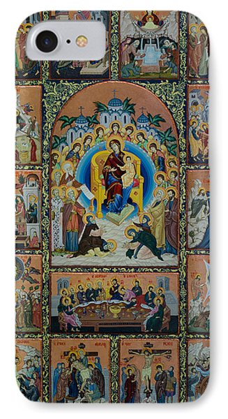 The Virgin Mary With Angels Phone Case by Claud Religious Art