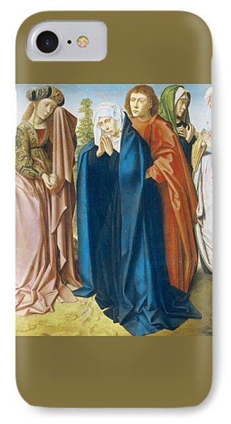 The Virgin Mary With St John The Evangelist And The Holy Women IPhone Case by Gerard David