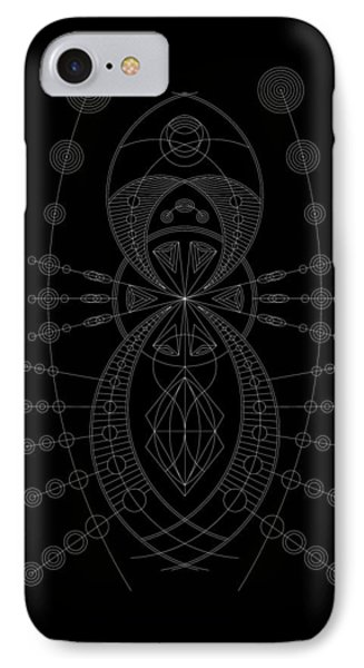 The Visitor Inverse IPhone Case by DB Artist