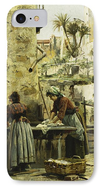 The Washerwomen Phone Case by Peder Monsted
