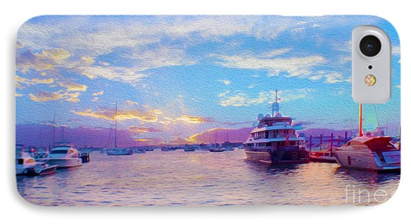The Waters Are Calm Painting  IPhone Case by Jon Neidert