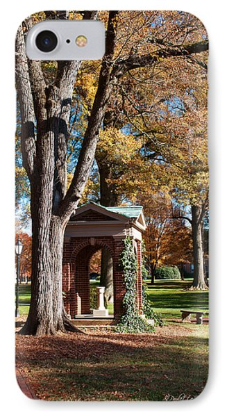 The Well - Davidson College IPhone Case by Paulette B Wright