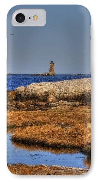 The Whaleback Lighthouse Phone Case by Joann Vitali
