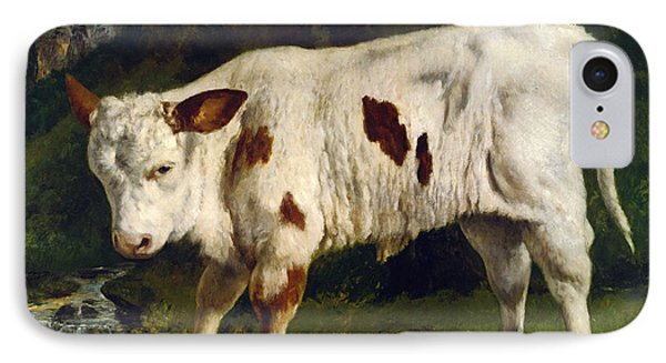 The White Calf Phone Case by Gustave  Courbet