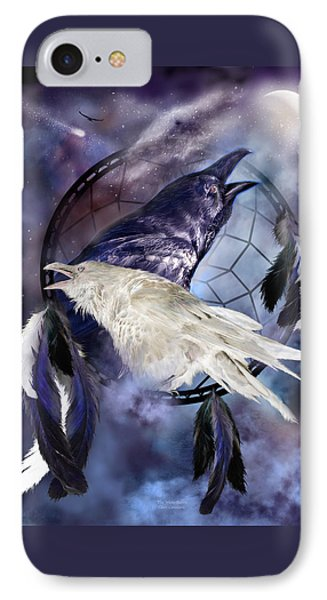 The White Raven IPhone Case by Carol Cavalaris
