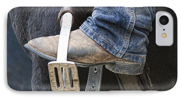 These Boots Are Made For Working IPhone Case by Linda Lees