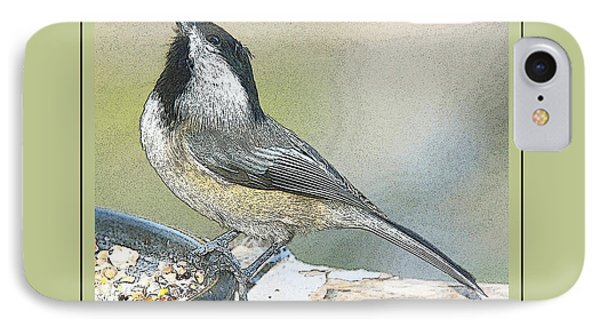 IPhone Case featuring the photograph Things Are Looking Up Chickadee Print by A Gurmankin