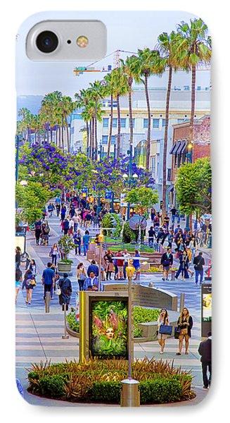 Third Street - Santa Monica IPhone Case by Chuck Staley