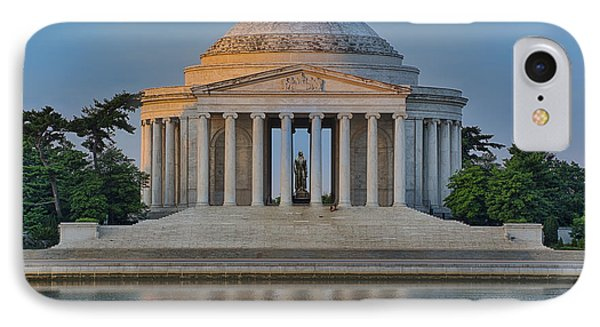 Thomas Jefferson Memorial At Sunrise IPhone Case by Sebastian Musial