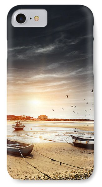 Three Boats IPhone Case by Carlos Caetano