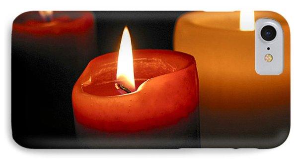 Three Burning Candles IPhone Case by Elena Elisseeva