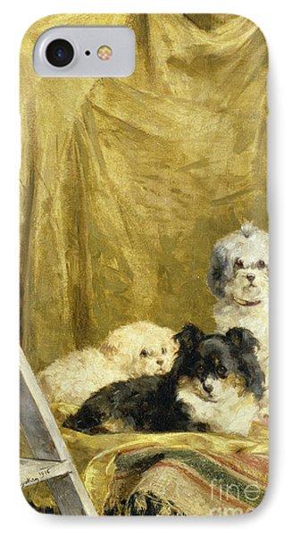 Three Dogs Phone Case by Charles van den Eycken