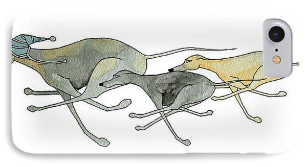 Three Dogs Illustration IPhone Case by Richard Williamson