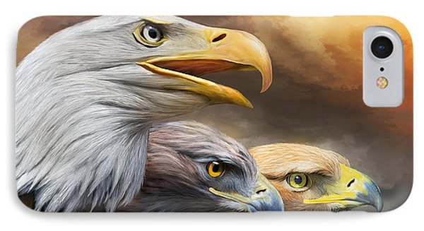 Three Eagles Phone Case by Carol Cavalaris