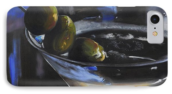 Three Olive Martini IPhone Case by Donna Tuten