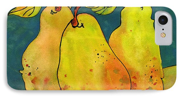 Three Pears Art  IPhone Case by Blenda Studio