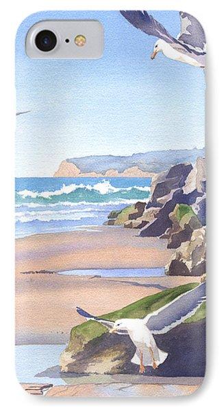Three Seagulls At Coronado Beach IPhone Case by Mary Helmreich