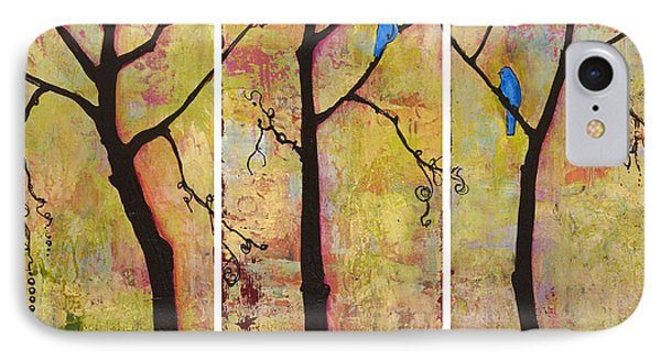 Three Trees Triptych IPhone Case by Blenda Studio