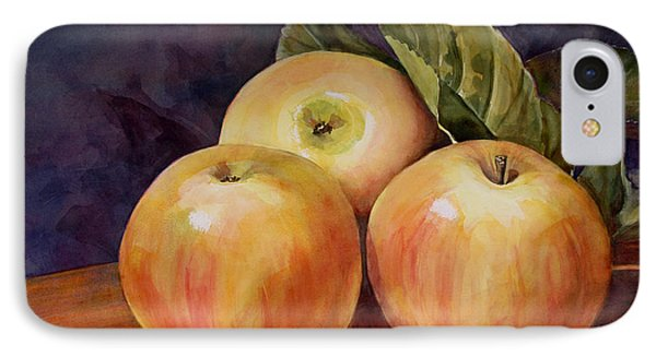 Three Yellow Apples Still Life IPhone Case by Blenda Studio