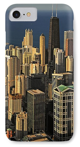 Through The Haze Chicago Shines Phone Case by Christine Till