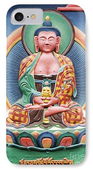 Tibetan Buddhist Deity Sculpture Phone Case by Tim Gainey