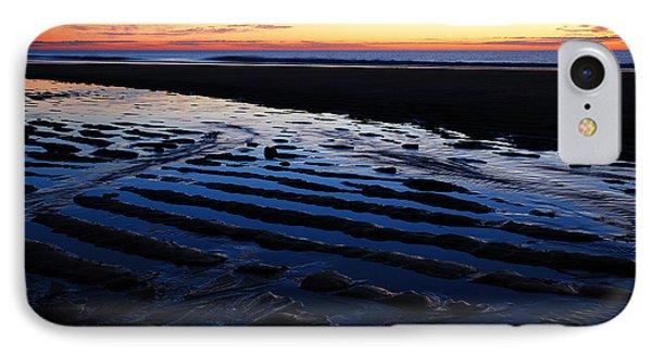 Tidal Ripples At Sunrise Phone Case by James Kirkikis