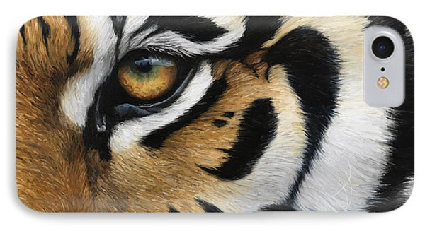 Tiger Eye IPhone Case by Lucie Bilodeau