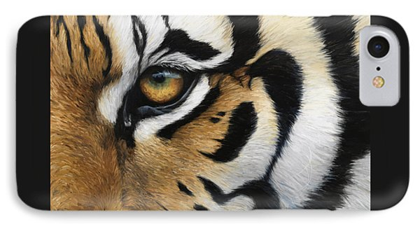 Tiger Eye IPhone 7 Case by Lucie Bilodeau