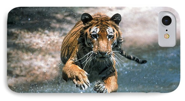 Tiger Leaping Phone Case by Mark Newman