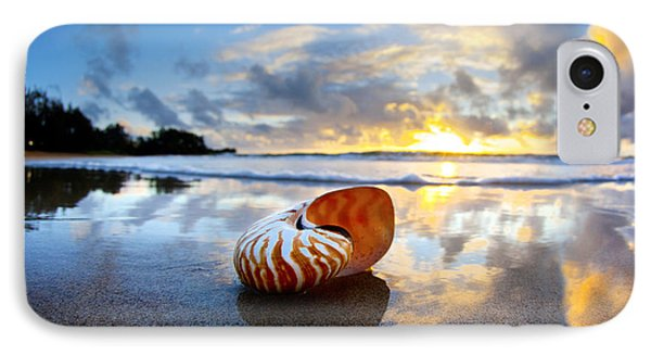 Tiger Nautilus Sunrise IPhone Case by Sean Davey