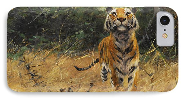 Tiger On The Watch IPhone Case by Wilhelm Kuhnert